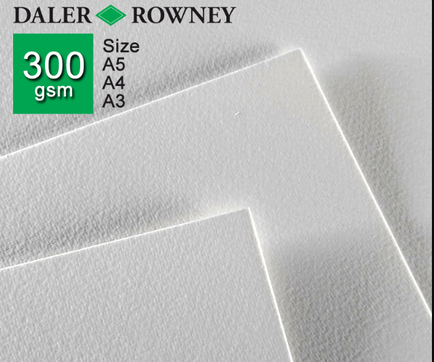 Giấy vẽ DALER ROWNEY 300gsm (Smooth, Cold, Rough)