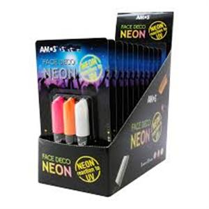 Màu vẽ mặt AMOS Face Deco 3 Neon colors blister card (FD10B3-ND)