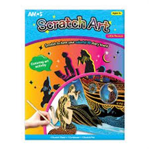 Sổ vẽ Scratch Art - Little Mermaid SA4-LM